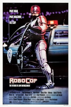 Official Robocop Uphold The Law T-Shirt Movie Film Cyberpunk Robot