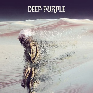 Cover for Deep Purple's Whoosh, a 2020 album. Features a purple sky, white mountains, and a dissolving spaceman in the foreground. Retrieved from Wikipedia.