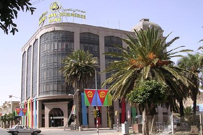 New headquarters for the Housing and Commerce Bank of Eritrea in Asmara, Eritrea