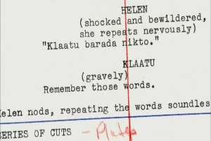 Klaatu barada nikto Iconic phrase from The Day the Earth Stood Still