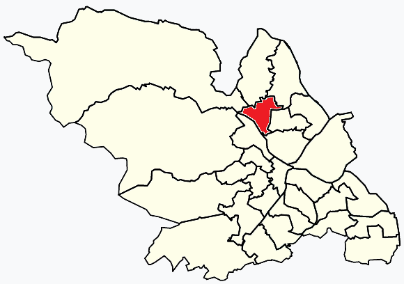 Southey Sheffield, map