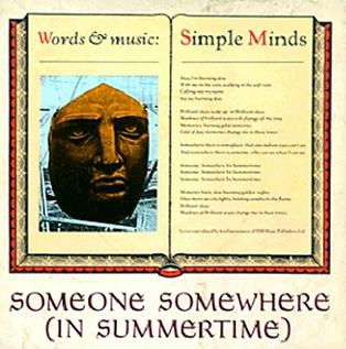 Single by Simple Minds
