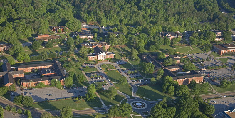 Aerial Image of Southern Adventist University in Collegedale a Chattanooga Real Estate: Top 10 Hidden Gems in Chattanooga, TN