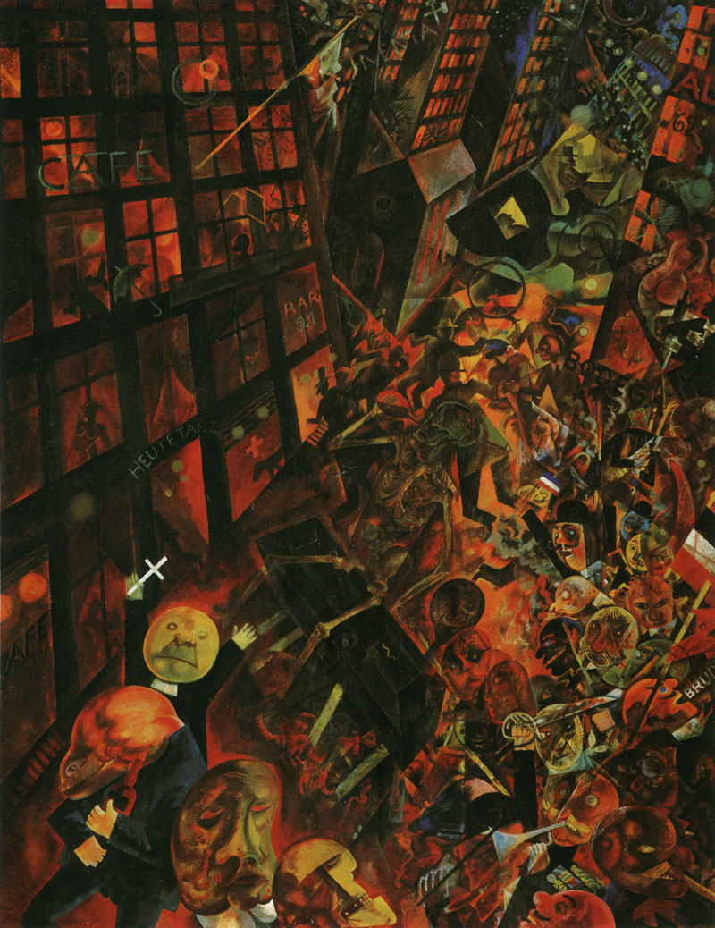George Grosz - Widmung an Oskar Panzetti (The Funeral), ca. 1918