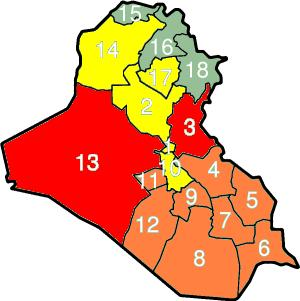 Provincial control of Iraq as of January 2007 ...