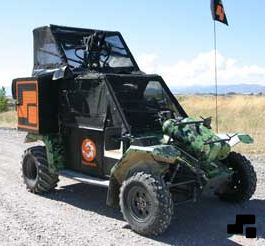 Paintball tank vehicle, or portable structure that resembles a vehicle, used in various types of the sport of paintball