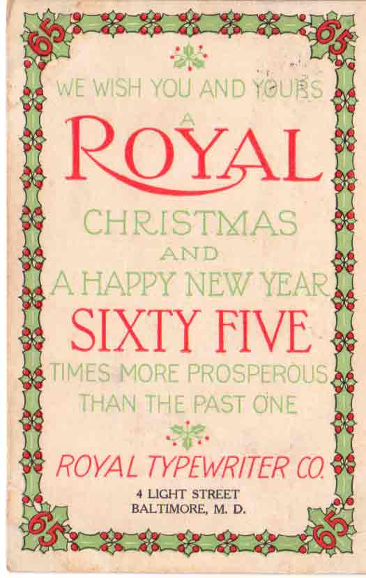 Christmas card wikipedia christmas card promoting royal typewriters m4hsunfo