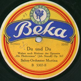 Label of a Beka Record
