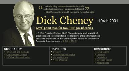 Australia cheney dick en