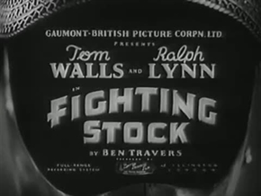 <i>Fighting Stock</i> 1935 film by Tom Walls