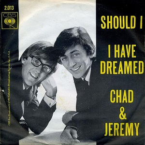 Should I (song) 1965 song written by Chad Stuart and Jeremy Clyde