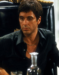 Tony Montana in Scarface (1983), portrayed by Al Pacino.jpg