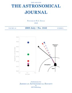 Astronomical Journal Cover
