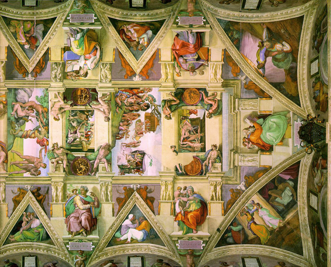 Michelangelo's Painting of the Sistine Chapel Ceiling