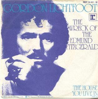 The Wreck of the <i>Edmund Fitzgerald</i> song by Gordon Lightfoot