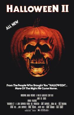 The top of the poster reads \u0026quot;HALLOWEEN II\u0026quot;, and just under those words