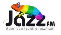 "The first iteration of the Jazz FM logo used from the launch, which brought back the Jazz FM chameleon and ""Listen in Colour"" branding formerly used by Jazz FM back in the early 2000s (decade) on their London and North West FM stations"