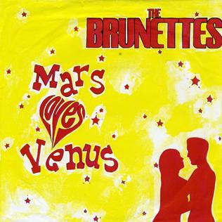 Cover art from 'The Brunettes' 'Mars Loves Venus'