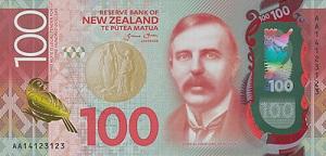 New Zealand One Hundred Dollar Note Wikipedia