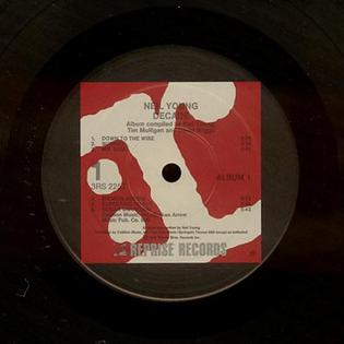 Red label, used by Reprise throughout the late 1970s. (Label to Neil Young's Decade.) Reprise Label Red Young.JPG