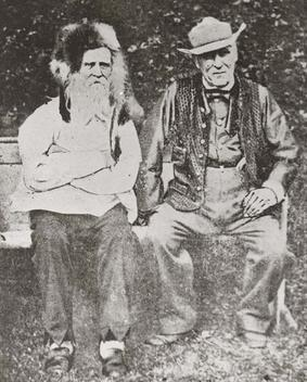 Price with his friend Robert Anderson, who later lit Price's funeral pyre William Price and friend.jpg
