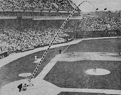 "Contemporary newspaper photograph and diagram of Frank Robinson's May 1966 ""out-of-the-park"" home run"