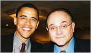 photograph of Jeffery M. Leving and Barack Obama