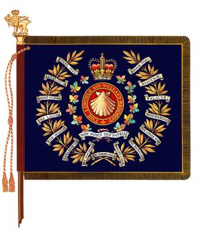 The regimental colour of The Lincoln and Welland Regiment
