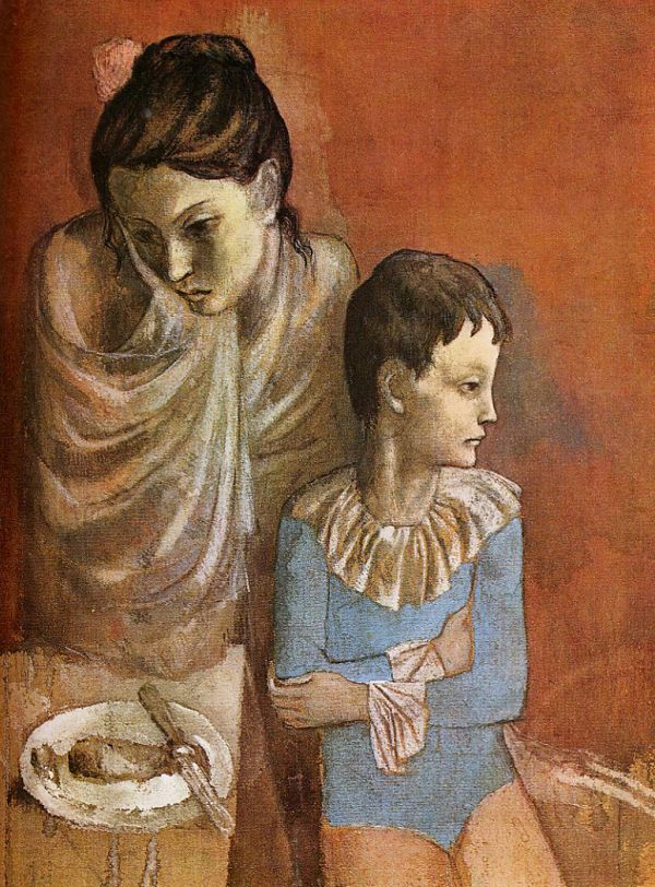 Pablo Picasso Rose Period Painting Mother and Child, Acrobats 1904-05