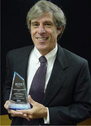 Ben Plowman receives his 2002 Tibbetts Award. Tibbets2002.jpg