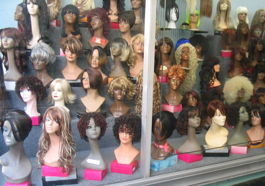 File Wigs On Display Jpg Wikipedia