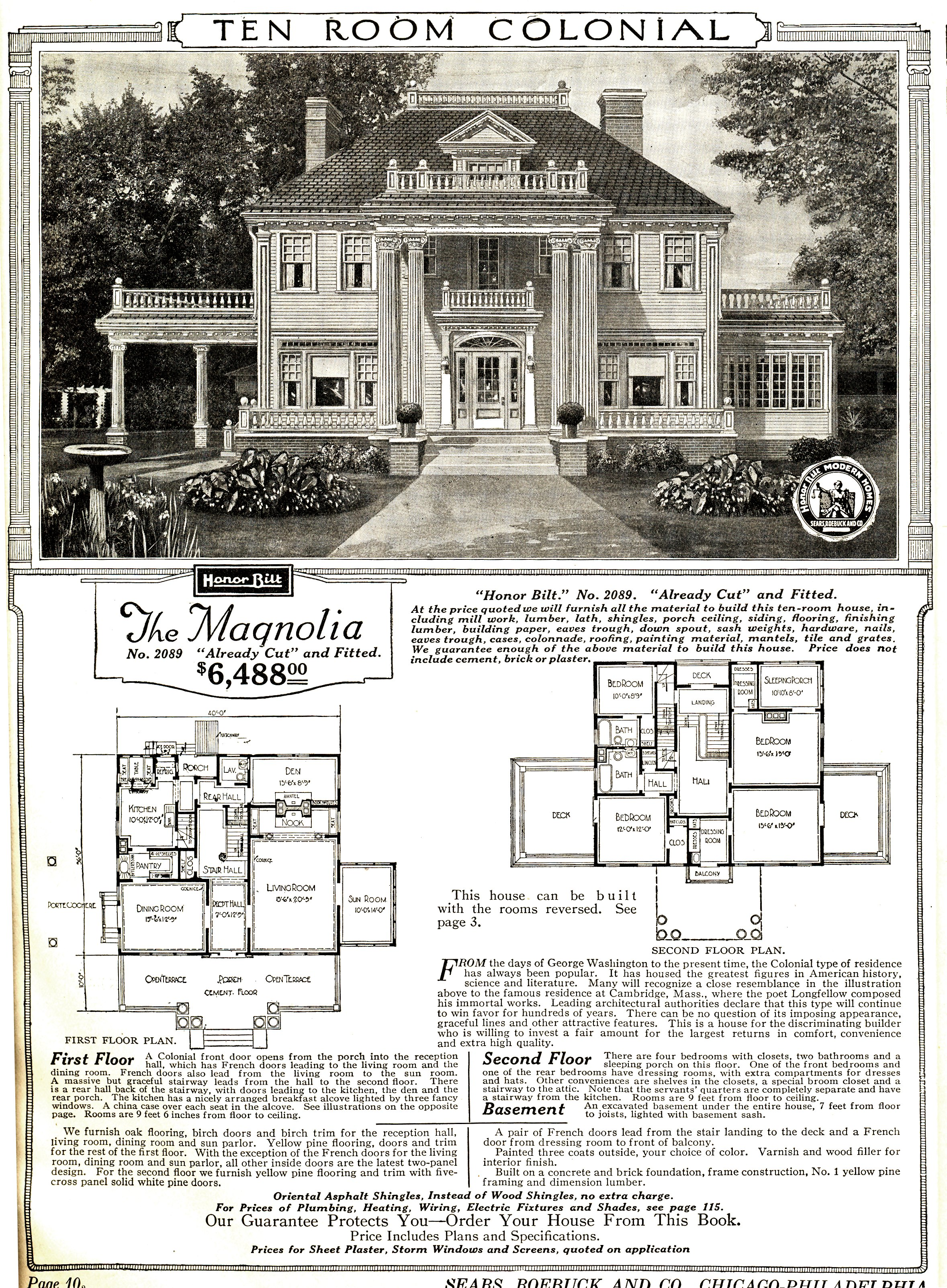 Catalog image and floorplan of Sears Magnolia model. Sears Catalog Home   Wikipedia