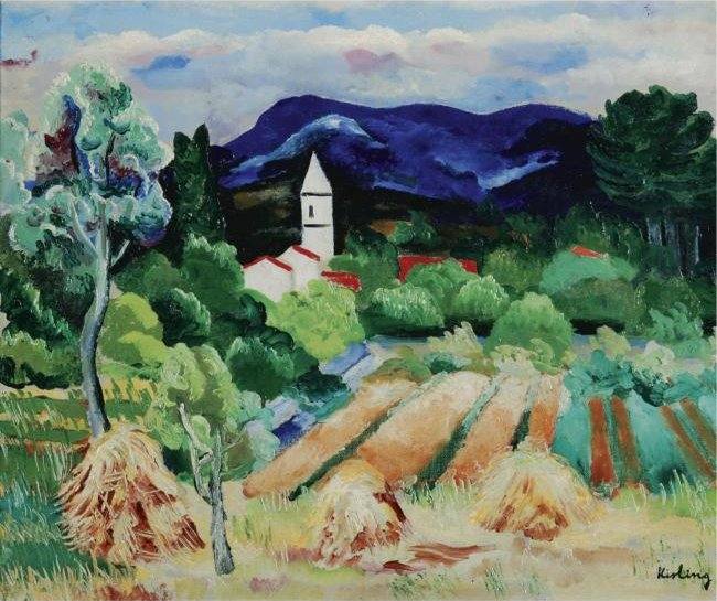 File:'Paysage de Provence', oil on canvas painting by Moïse Kisling, c. 1919.jpg