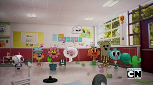 the series features a variety of different animals and objects for characters such as gumball and his classmates - The Amazing World Of Gumball The Halloween