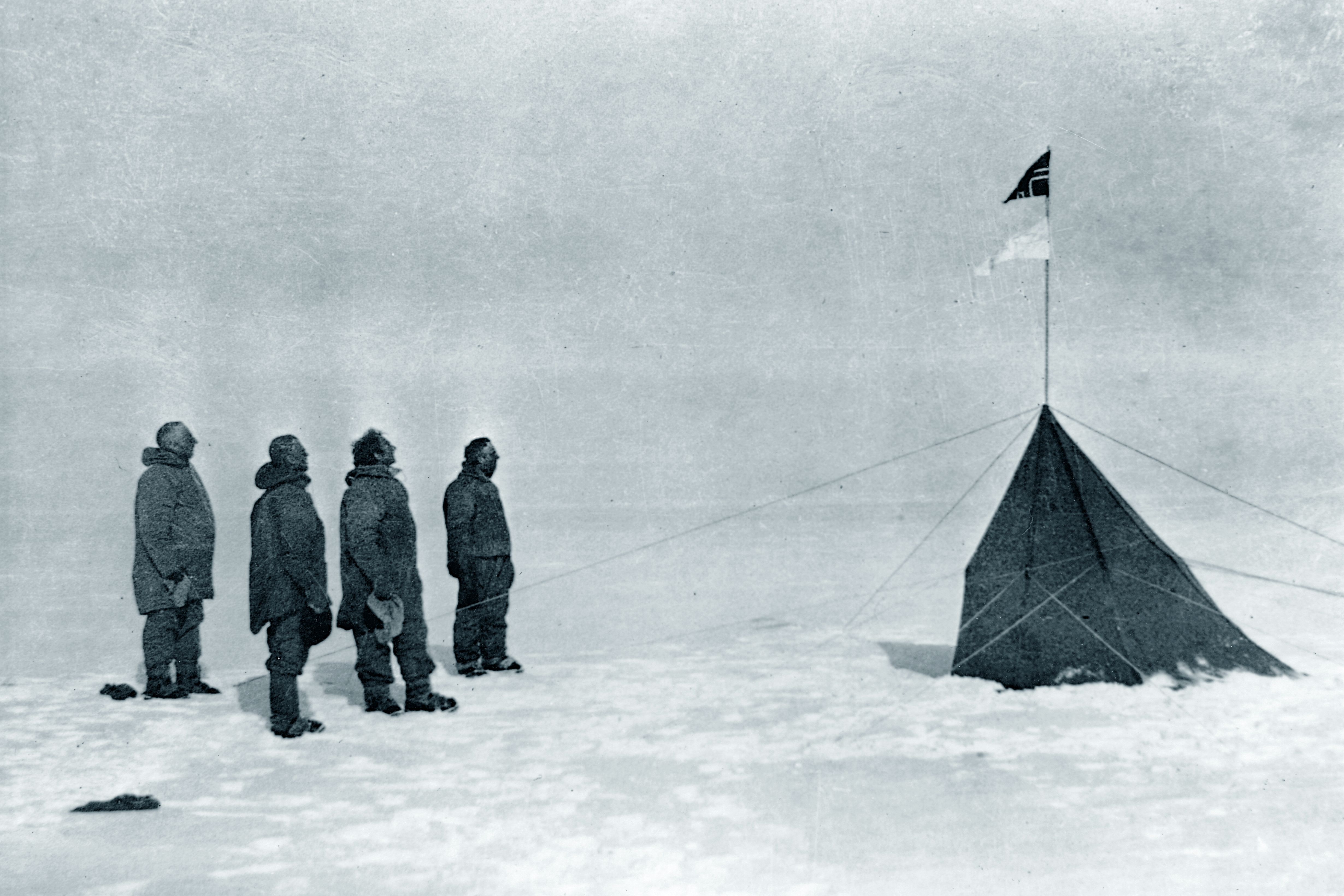 Amundsen at the South Pole. Photo: Wikipedia