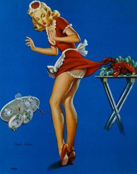 """Fresh Lobster"" door Gil Elvgren"