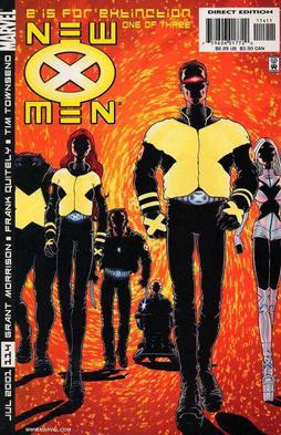 The cover to New X-Men #114. Art by Frank Quitely.