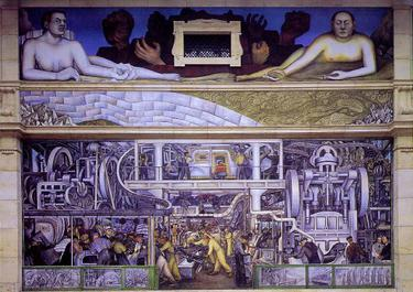 Detroit Industry, South Wall, 1932-33. Detroit Institute of Arts Rivera detroit industry south.jpg