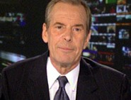 Peter Jennings informing viewers of World News Tonight on April 5, 2005, of his diagnosis with lung cancer in a taped message.