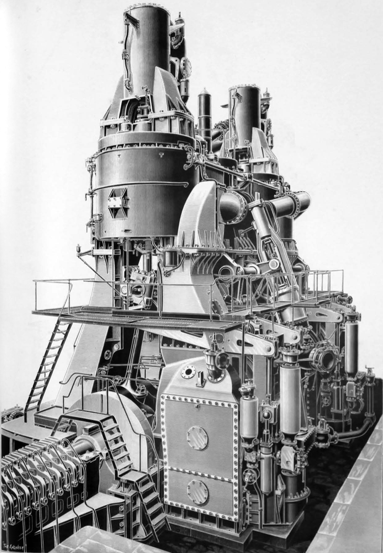 Ss United States Engine Room: File:Campania Lucania Engine By Fairfield.jpg