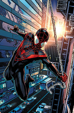 "Into The SpiderVerse B.M. Bendis      ""Miles Gonzalo Morales"" - cover"