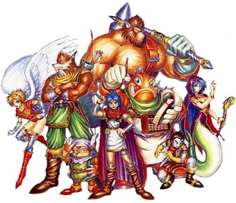 The playable characters of Breath of Fire Breath of Fire characters.jpg