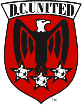 I had to google what you were talking about. It seems to be DC United  Boy... the red black and white alongside a roman eagle is ... let's just say it's 'evocative' of a certain ideology.