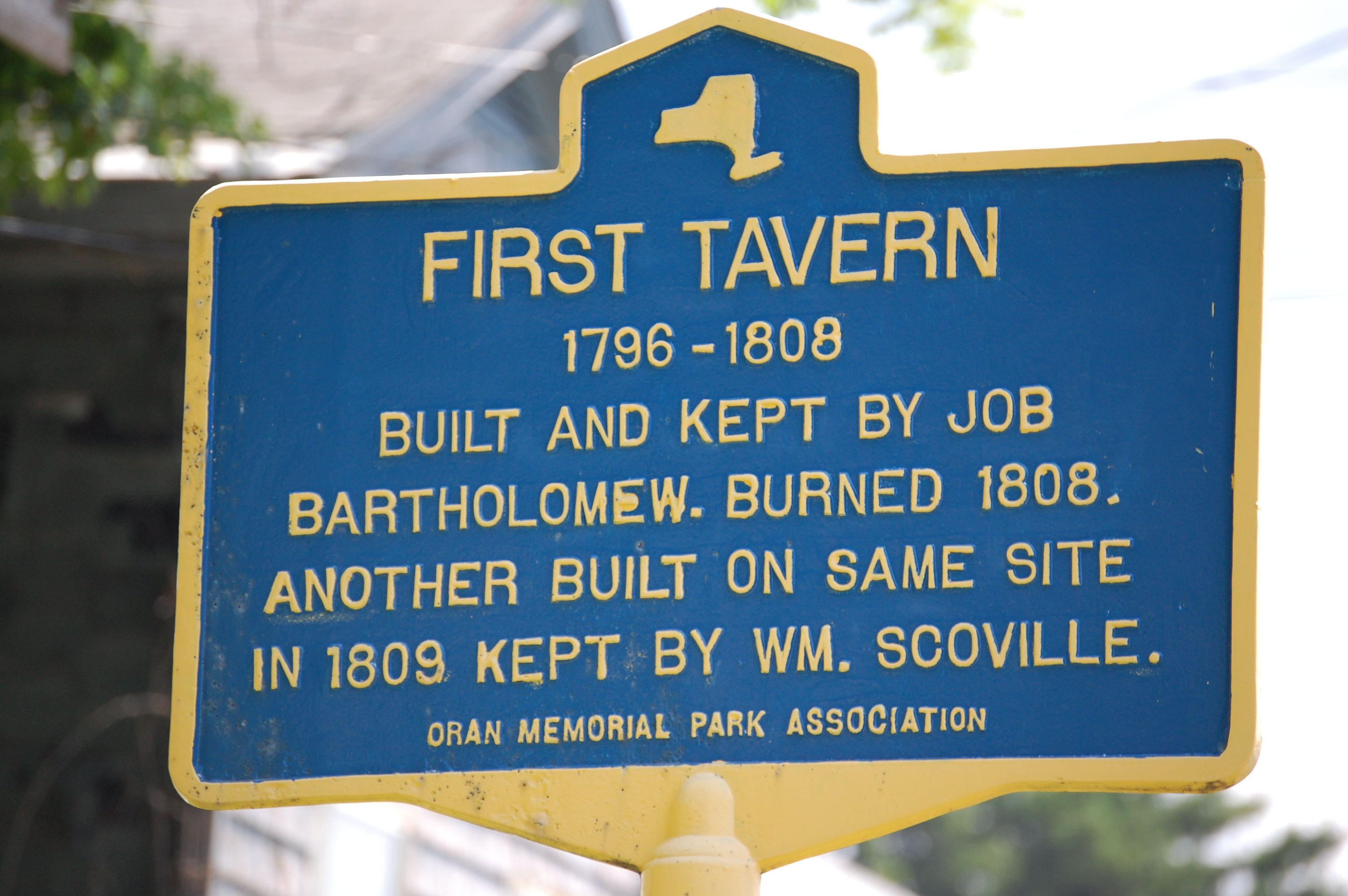 File:New York State historic marker – First Tavern.JPG - Wikipedia