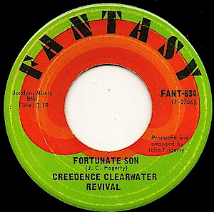 Image result for fortunate son ccr single images