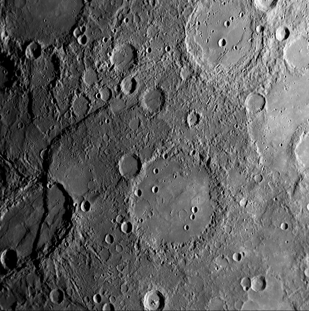File:Ghost craters on Mercury png - Wikipedia