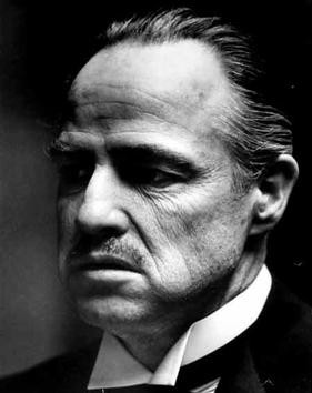 Don Corleone in black and white
