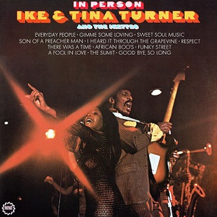 <i>In Person</i> (Ike & Tina Turner album) 1969 live album by Ike & Tina Turner and The Ikettes