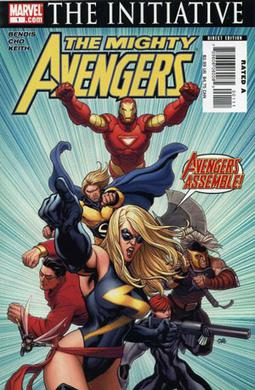 Promotional image for The Mighty Avengers #1 (May 2007) Art by Frank Cho