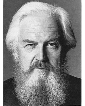 Canadian writer Robertson Davies, author of The Deptford Trilogy which included the famous book, Fifth Business